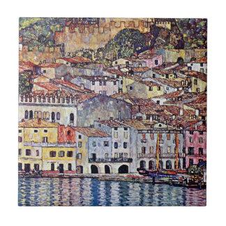Carreau Gustav Klimt - Malcesine au policier Italie de lac