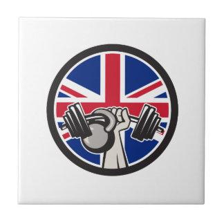 Carreau Haltère britannique Kettlebell Union Jack la