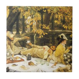 Carreau Holyday, le pique-nique par James Tissot, art