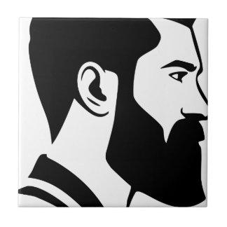 Carreau Homme barbu