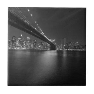 Carreau Horizon blanc noir de New York City