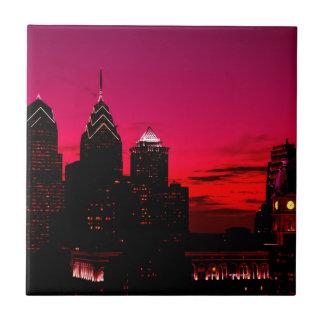 Carreau Horizon de coucher du soleil de Philadelphie