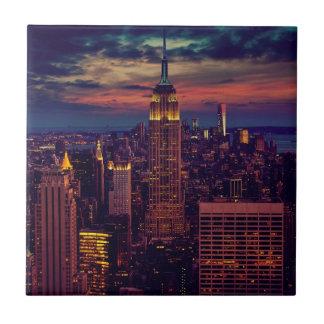 Carreau Horizon de crépuscule de New York City