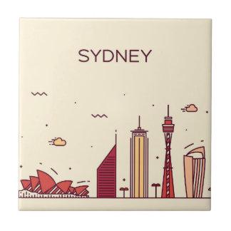 Carreau Horizon de griffonnage de Sydney, Australie |