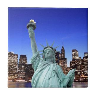 Carreau Horizon de Manhattan et la statue de la liberté