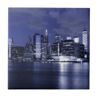 Carreau Horizon de New York la nuit