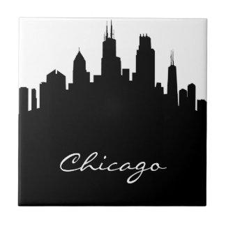 Carreau Horizon noir et blanc de Chicago