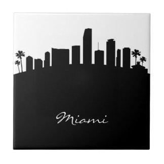 Carreau Horizon noir et blanc de Miami