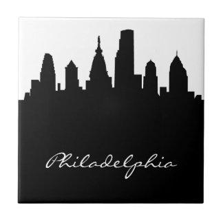 Carreau Horizon noir et blanc de Philadelphie