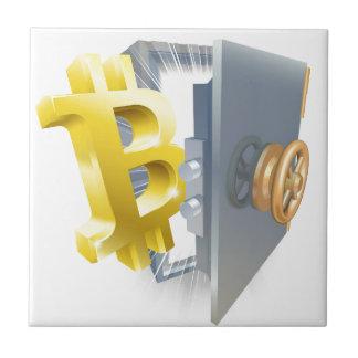 Carreau Illustration de coffre-fort de Bitcoin