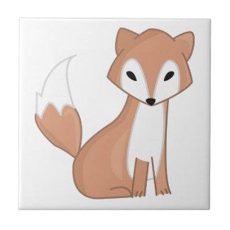 Carreau Illustration de Digitals d'un Fox mignon