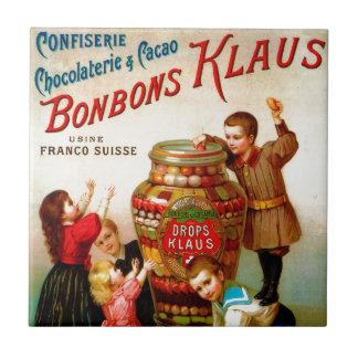 Carreau Illustration française vintage de la publicité de