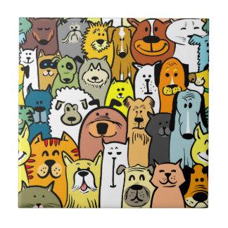 Carreau Illustrations Animated de chiens et de chats