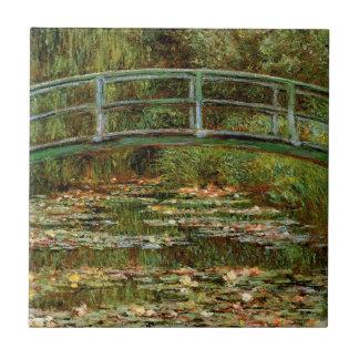 Carreau Impressionniste japonais français de pont de Monet