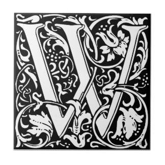 Carreau Initiale médiévale de cru de monogramme de la