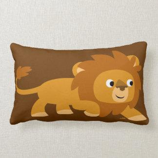 Carreau intelligent mignon de lion de bande dessin oreiller
