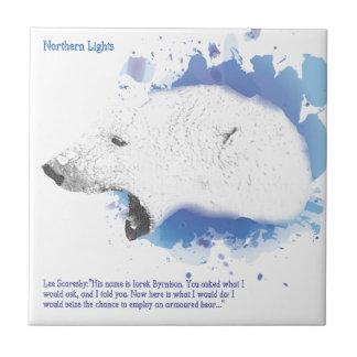 Carreau Iorek, ours blindé de ses matériaux foncés