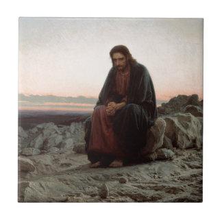 Carreau Ivan Kramskoy- le Christ dans la région sauvage -