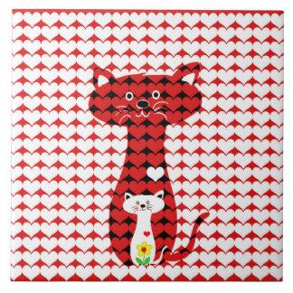 Carreau J'aime des chats
