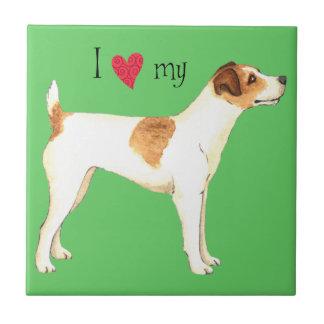 Carreau J'aime mon Jack Russell Terrier
