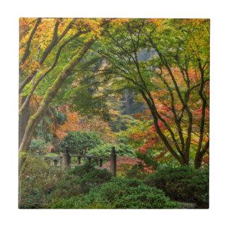 Carreau Jardins japonais en automne à Portland, Orégon 4