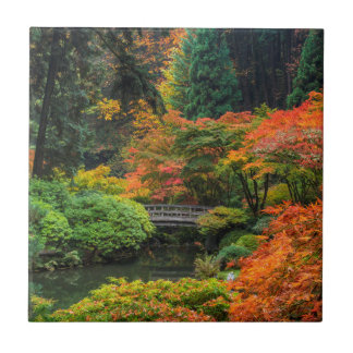 Carreau Jardins japonais en automne à Portland, Orégon 5