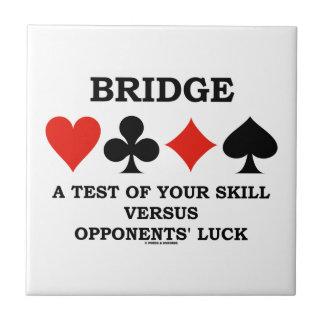 Carreau Jetez un pont sur un essai de votre compétence