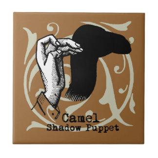 Carreau Jeux d'ombre de marionnette de main de chameau
