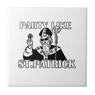 Carreau Jour de St Patricks