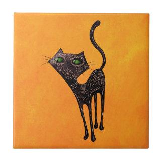 Carreau Jour mexicain noir du chat mort