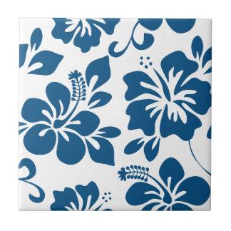 Carreau Ketmie hawaïenne bleue