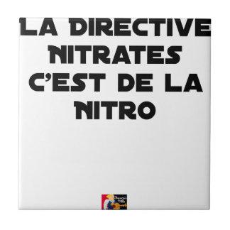 Carreau La Directive Nitrates, c'est de la Nitro - Jeux de
