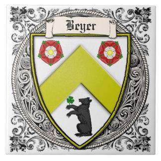 Carreau La famille de Beyer (Suisse/Saxe) arme