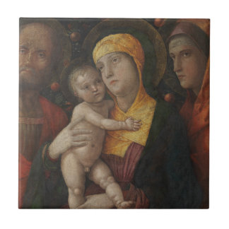 Carreau La famille sainte avec le saint Mary Magdalene