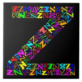 Carreau La lettre Z d'alphabet