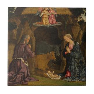 Carreau La nativité, 1480s