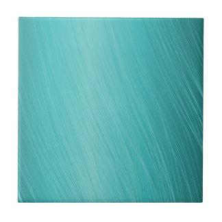 Carreau la sarcelle d'hiver, aqua, turquoise, a rayé le