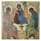 Carreau La trinité sainte, 1420s (tempera sur le panneau)