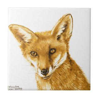 Carreau La vie sauvage rouge britannique de Fox