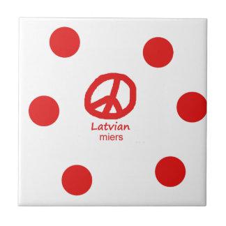 Carreau Langue et conception lettons de symbole de paix
