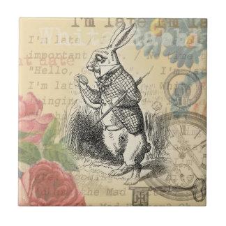 Carreau Lapin blanc d'Alice au pays des merveilles