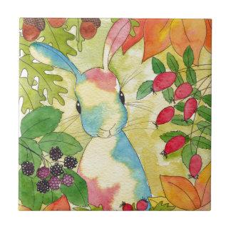 Carreau Lapin d'automne par art de menthe poivrée