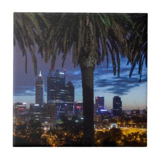 Carreau L'Australie, Perth, horizon de ville des Rois Park