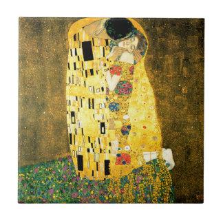 Carreau Le baiser par art Nouveau de Gustav Klimt