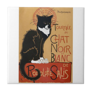 Carreau Le Chat Noir et Blanc