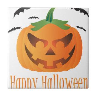 Carreau Le citrouille de Halloween avec le vol manie la