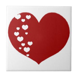 Carreau Le coeur dépiste clair rouge