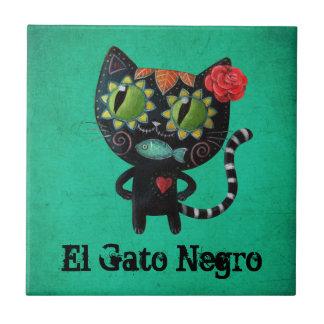 Carreau Le jour du chat noir mort