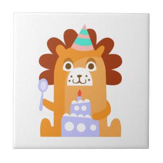 Carreau Le lion avec la partie attribue génial stylisé