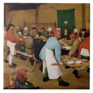 Carreau Le mariage rural par Pieter Bruegel l'aîné